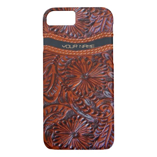 innovative design d475a 085c1 western leather look iPhone 7 case
