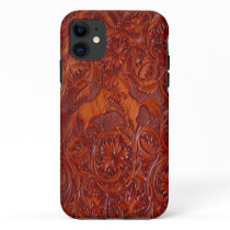 western leather style with mustangs iphone 5 case
