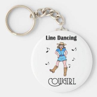 """Western """"Line Dancing Cowgirl"""" Keychain"""