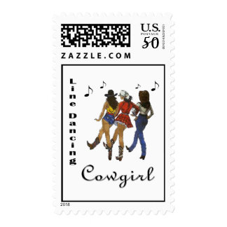 """Western  """"Line Dancing Cowgirl"""" Postage Stamps"""