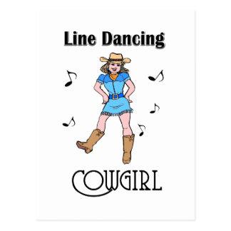 "Western ""Line Dancing Cowgirl"" Postcard"