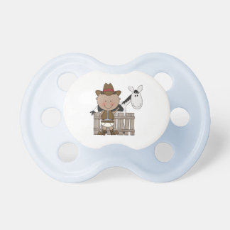 Western Little Brown Cowboy Pony Pacifiers