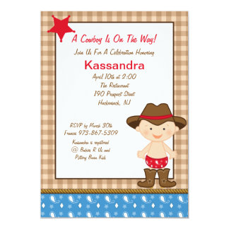 Western Theme Baby Shower Invitations Announcements Zazzle