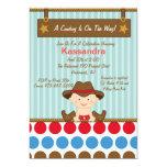 Western Little Cowboy Baby Shower Invitation
