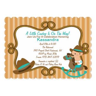 Little Cowboy Baby Shower Invitations Announcements Zazzle
