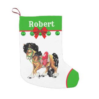 Western Little Horse Pony With Saddle Small Christmas Stocking