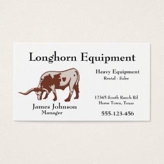 Western Longhorn Steer Business Cards