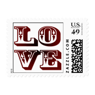 Western Love Postage Stamps