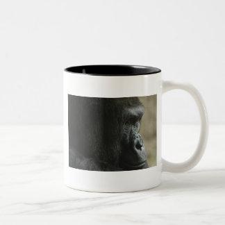 Western Lowland Gorilla Two-Tone Coffee Mug