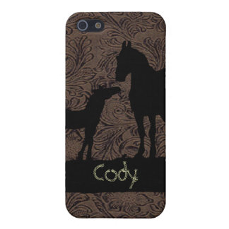 Western Mare Foal Add Name Case iPhone 4