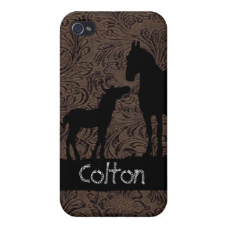 Western Mare Foal Add Name Case iPhone 4 Cases For iPhone 4