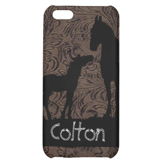Western Mare Foal Add Name Case iPhone 4 Case For iPhone 5C
