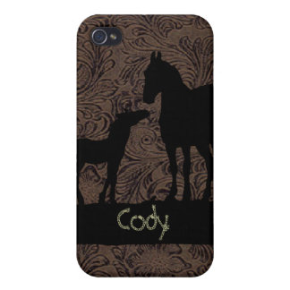 Western Mare Foal Add Name Case iPhone 4 iPhone 4/4S Case