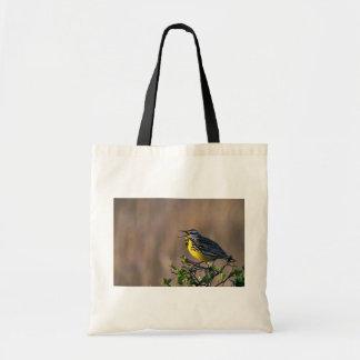 Western meadowlark budget tote bag