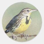Western Meadowlark Classic Round Sticker