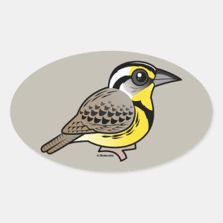Western Meadowlark Oval Sticker