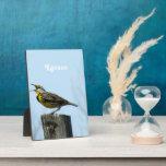Western Meadowlark Photo Plaque
