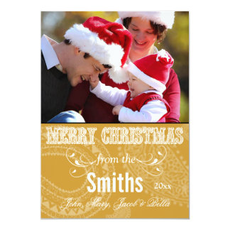 Western Merry Christmas Family Photo Cards