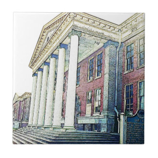 Western Michigan University Historic East Hall Ceramic Tile