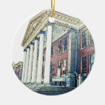 Western Michigan University Historic East Hall Double-Sided Ceramic Round Christmas Ornament