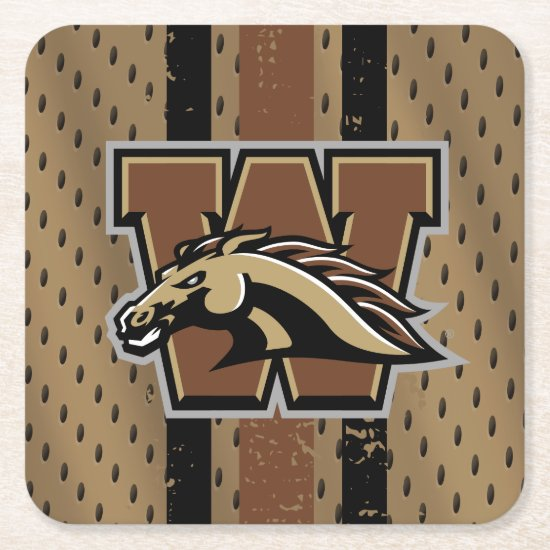 Western Michigan University Logo Jersey Square Paper Coaster