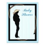 "western mom Baby shower Invitation 4.25"" X 5.5"" Invitation Card"