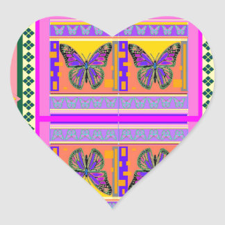 Western Monarch Butterfly Design gifts by Sharles Heart Sticker