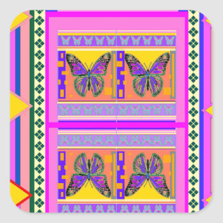 Western Monarch Butterfly Design gifts by Sharles Square Sticker