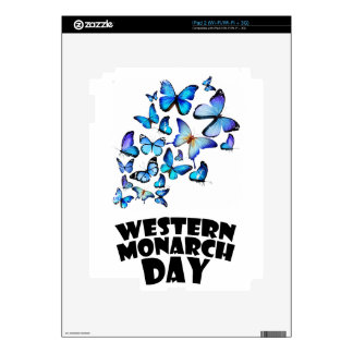 Western Monarch Day - Appreciation Day Decals For iPad 2