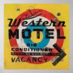 Western Motel Target Print