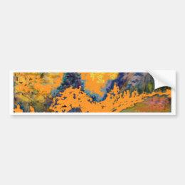Western Mountain Aspens Landscape Painting Bumper Sticker