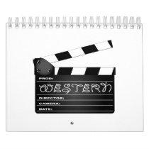 Western Movie Clapperboard Calendar