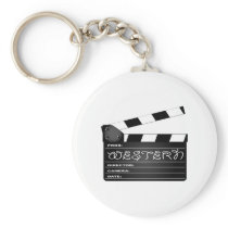 Western Movie Clapperboard Keychain