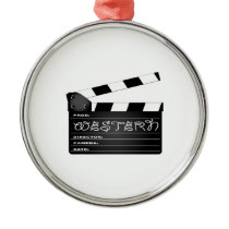 Western Movie Clapperboard Metal Ornament