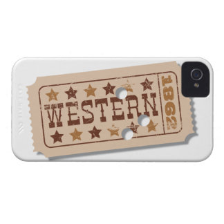 Western Movie Ticket Blackberry Case