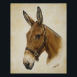 "Western Mule Poster<br><div class=""desc"">Add beauty and Western flare to your home and office decor with this gorgeous mule poster. Grab one for yourself and one for a loved one! Beautifully designed from an original oil painting titled &quot;Ready Mule&quot; by Artist Cathy Cleveland.</div>"