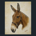 """Western Mule Poster<br><div class=""""desc"""">Add beauty and Western flare to your home and office decor with this gorgeous mule poster. Grab one for yourself and one for a loved one! Beautifully designed from an original oil painting titled &quot;Ready Mule&quot; by Artist Cathy Cleveland.</div>"""