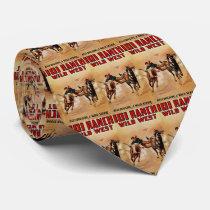 Western Necktie 101 Ranch Cowboy Steer Wrestler