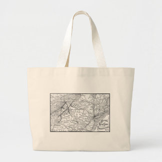 Western New York and Pennsylvania Railway Map Tote Bags
