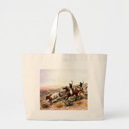 Western Nostalgia Large Tote Bag