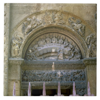 Western opening tympanum depicting the Marriage at Ceramic Tile