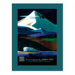 Western Pacific California Zephyr Vintage Poster Postcard