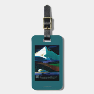 Western Pacific California Zephyr Vintage Poster Tag For Luggage