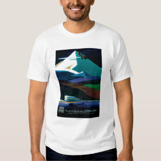 Western Pacific California Zephyr Vintage Poster Tee Shirt