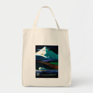 Western Pacific California Zephyr Vintage Poster Tote Bag