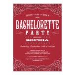Western Paisley Bachelorette Party Invitation
