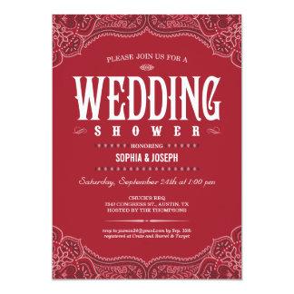 Western Paisley Wedding Shower Invitations
