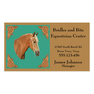 Western Palomino Horse Business Cards