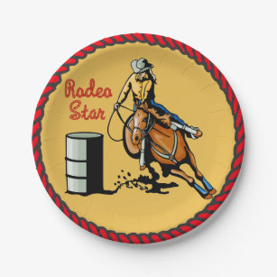 Western Party Barrel Racing Paper Plates  sc 1 st  Zazzle & Barrel Racing Plates | Zazzle