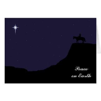 Western Peace on Earth Christmas Card